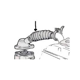 Hose of radiator with thermostat - 850 All - -> body 125650