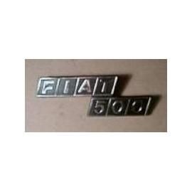 Rear type plate - 500 F / R (1968 --> 1975)