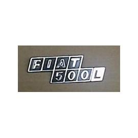 Rear type plate (plastic) - 500 L (1968 -->1972)