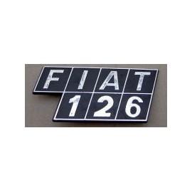 rear type plate - 126