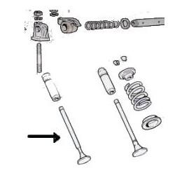 Exhaust valve<br>850 100 GC/GS