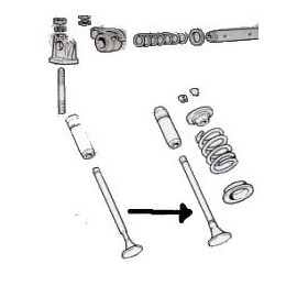 Intake valve<br>850 100 GB/GBS/GBC