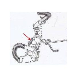 Hose connection Thermostat/Water Pump - 1300/1500