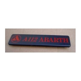 Back badge - A112 Abarth
