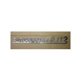 Monogramme arrière chromé - A112