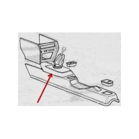 Black repair kit for center console - 124 Spider (1969-->197