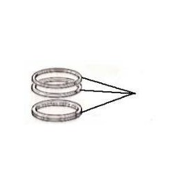 Pistons rings set for 4 pistons (Standard) - 124 Coupe/Spide