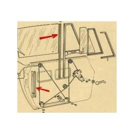Guide vitre - 124 Spider (1966-->1985)