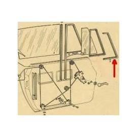 Entourage droit de vitre de déflecteur - 124 Spider (1966-->