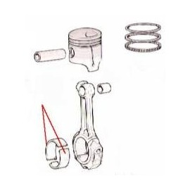 Half bearing - 1300/1500 (standard)