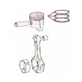 Pistons rings set (Standard)<br>1300