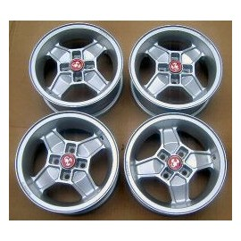 Set of 4 aluminium rims<br>Disponible sur : www.turismo-velo