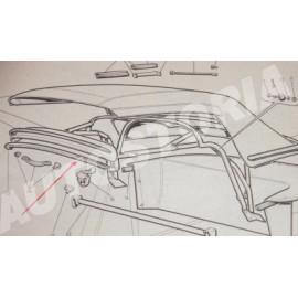 Softop gasket Fiat 1200 - 1500 cabriolet