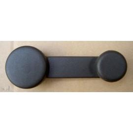 Manivelle lève vitre en plastique noire - 126 FSM , Ritmo , Cinquecento