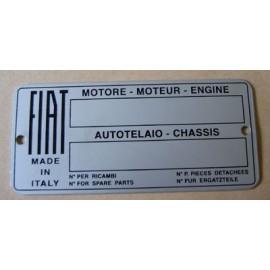Plaque d'omologation - Fiat Toutes