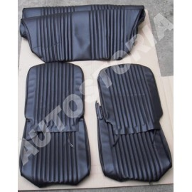 Set of black covers of seats front and rear - 126A 600cm3