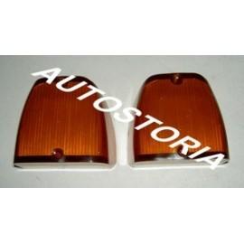 Cabochon orange de feu Arrière (la paire)<br>Fiat 1100 Trasformabile / 1200 Trasformabile