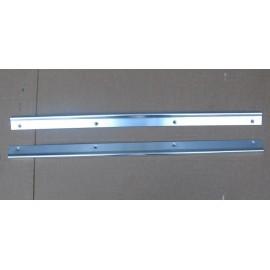 Set of aluminium doorsill molding - Fiat 500 F / L / R