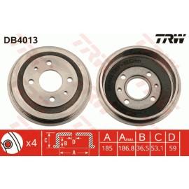 Drum (front/rear) TRW - 126/A112/Ritmo