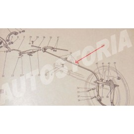 Brake cable to hand - 1100 103/1100D/1500 Spider